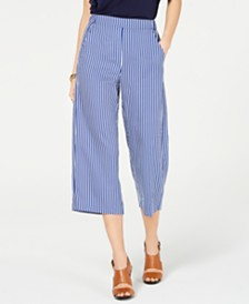 MICHAEL Michael Kors Striped Cropped Pants, Regular & Petite Sizes