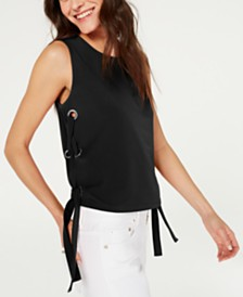 Michael Michael Kors Grommet-Side Sleeveless Top, Created for Macy's