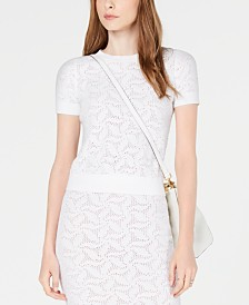 MICHAEL Michael Kors Mesh Sweater, Created for Macy's