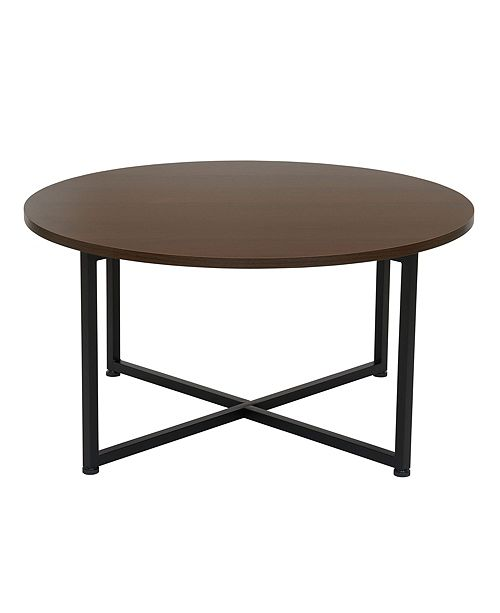 Household Essentials Victorian Round Black Metal Coffee Table