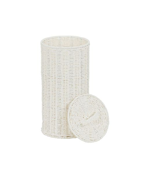 Household Essentials Paper Rope Wicker Toilet Paper Roll Holder
