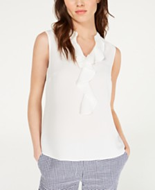Nine West Ruffled Sleeveless Top