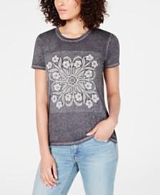 Lucky Brand Scarf-Print T-Shirt