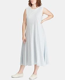Lauren Ralph Lauren Plus Size A-Line Cotton Dress