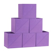 Household Essentials Diagonal Pull 6-Pc. Collapsible Fabric Cubes