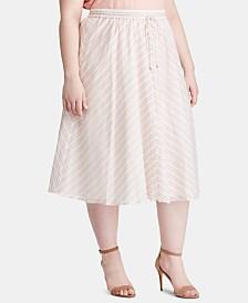Lauren Ralph Lauren Plus Size Cotton Skirt