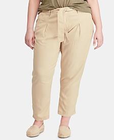 Lauren Ralph Lauren Plus Size Twill Pants