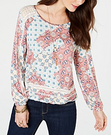 Crochet-Trim Bubble-Hem Top, Created for Macy's