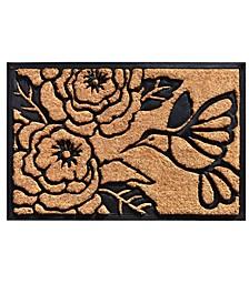 """Hummingbird Haven 24"""" x 36"""" Coir/Rubber Doormat"""