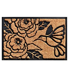 "Hummingbird Haven 24"" x 36"" Coir/Rubber Doormat"