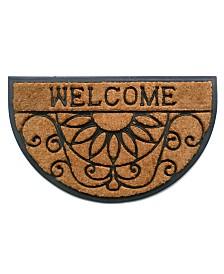 """Welcome Scroll 18"""" x 30"""" Coir/Rubber Doormat"""