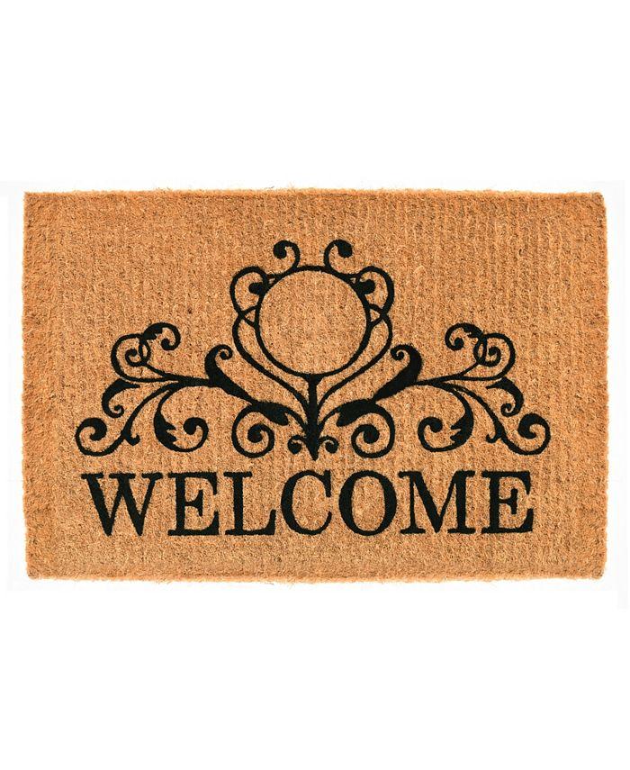 Home & More - Kingston Welcome 3' x 6' Coir Doormat