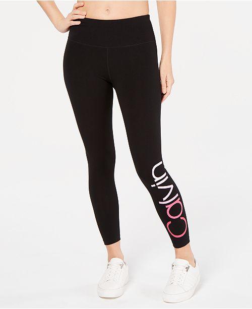 21cfcbbf5b93bb Calvin Klein Logo Ankle Leggings & Reviews - Pants & Capris - Women ...