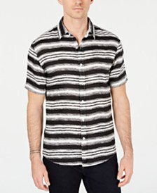 Michael Kors Men's Linen Stripe Shirt, Created for Macy's