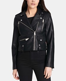 a08a3ab74f1d GUESS Viper Faux-Leather Moto Jacket & Reviews - Jackets & Vests ...