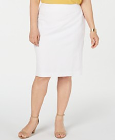 Kasper Plus Size Lightweight Suit Skirt