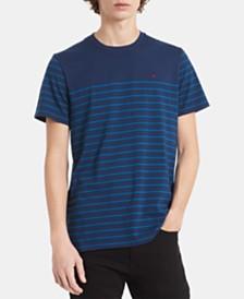 Calvin Klein Men's Auto Stripe Colorblocked Pima Cotton T-Shirt