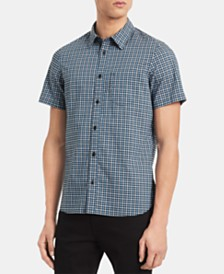 Calvin Klein Men's Classic-Fit Yarn-Dyed Check Shirt