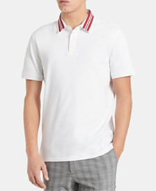 Calvin Klein Men's Liquid Touch Regular-Fit Contrast Collar Polo Shirt