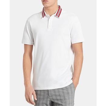Calvin Klein Men's Liquid Touch Regular-Fit Contrast Collar Polo Shirt