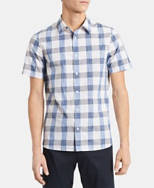 Calvin Klein Men's Classic-Fit Yarn-Dyed Plaid Shirt
