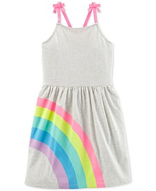 Carter's Little & Big Girls Rainbow-Graphic Cotton Dress