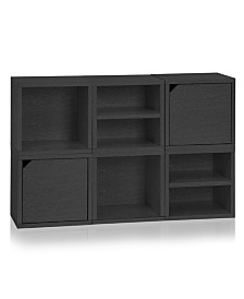 Way Basics Eco Stackable Connect 6 Cube Storage
