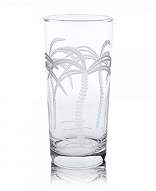 Palm Tree Cooler Highball 15Oz - Set Of 4 Glasses
