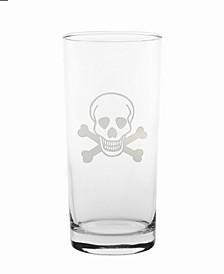 Skull and Cross Bones Cooler Highball 15Oz - Set Of 4 Glasses