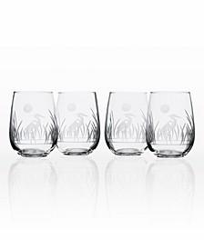 Heron Stemless 17Oz - Set Of 4 Glasses