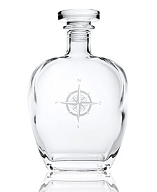 Compass Rose Whiskey Decanter 23Oz