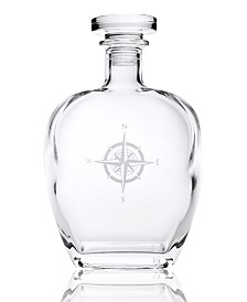 Rolf Glass Compass Rose Whiskey Decanter 23Oz