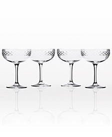 Diamond Coupe Champagne Saucer - Set Of 4
