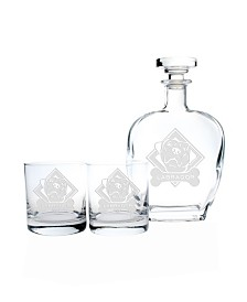 Rolf Glass Woof! Labrador 3 Piece Gift Set - Whiskey Decanter And Rocks Glasses