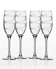 Good Vibrations Flute 8Oz - Set Of 4 Glasses