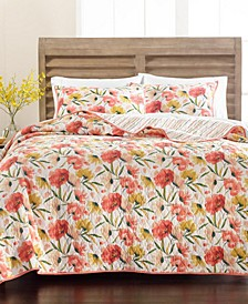 Sunset Floral Quilt and Sham Collection, Created for Macy's