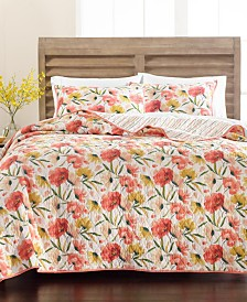Martha Stewart Collection Sunset Floral Quilt and Sham Collection, Created for Macy's