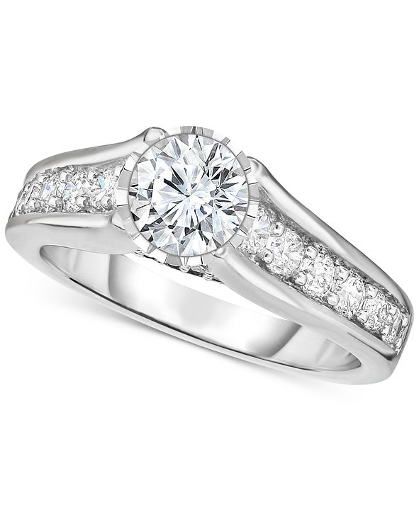 TruMiracle Diamond Engagement Ring (1-1/4 ct. t.w.) in 14k White Gold