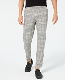 I.N.C. Men's Slim-Fit Plaid Pants, Created by Macy's