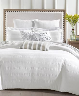 Basket Stripe 3-Pc. Full/Queen Comforter Set, Created for Macy's