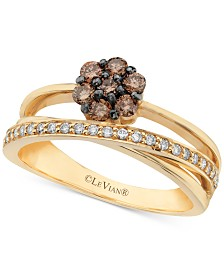 Le Vian Chocolatier® Cluster Statement Ring (3/8 ct. t.w.) in 14k Gold