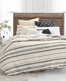 Lucky Brand Stripe Embroidered 2-Pc. Twin Duvet Cover Set, Created for Macy's