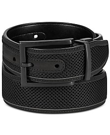 Alfani Men's Mesh Inlay Reversible Belt, Created for Macy's
