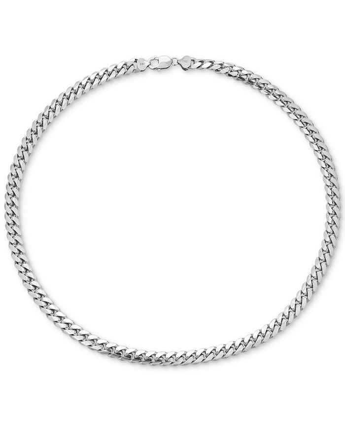 "Macy's - Men's Cuban Link 26"" Chain Necklace in Sterling Silver"