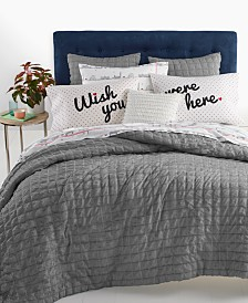 Whim by Martha Stewart Collection Seersucker 3-Pc. King Comforter Set, Created for Macy's