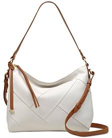 Oxleas Colorblock Leather Zip-Top Shoulder Bag