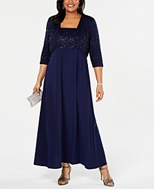 Plus Size Lace Poncho Gown