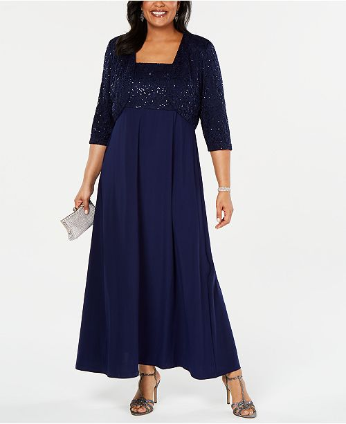 Plus Size Lace Poncho Gown