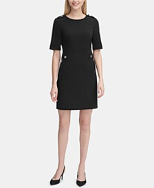 Zip-Pocket Sheath Dress