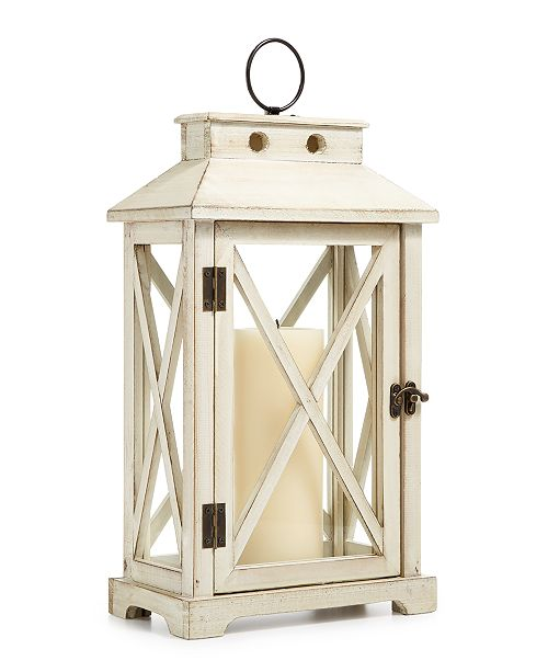 """Martha Stewart Collection CLOSEOUT! La Dolce Vita 18"""" Wooden Lantern, Created for Macy's"""